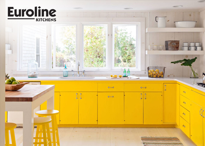 Bright Yellow Modern Kitchen Cabinets