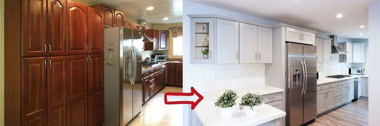 Kitchen cabinet & counter space