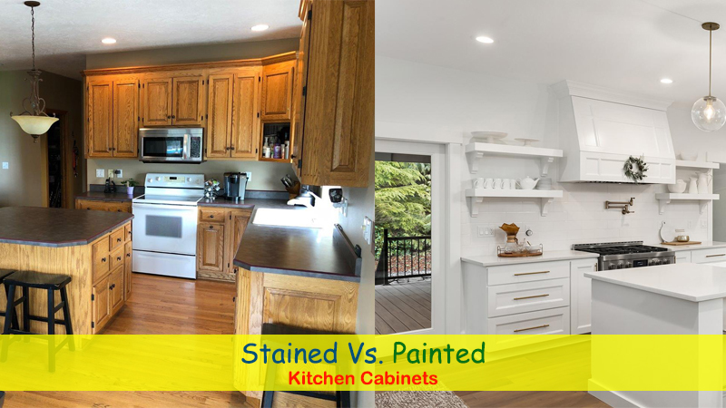 Stained Cabinets vs Painted Kitchen Cabinets - Pros and Cons